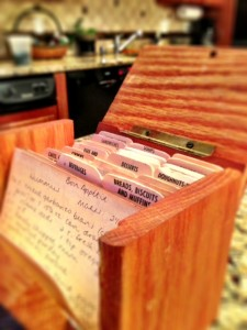 recipes, index cards