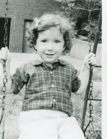 curly hair, little girl, swing