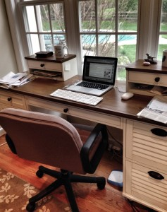My Writing Process -- it all happens here at this desk