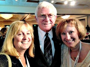 Lois, Phil Donahue and me