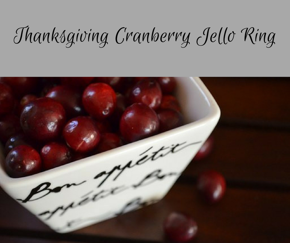 Thanksgiving Cranberry Jello Ring